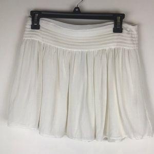 Alice Olivia Scoop Off White Silk Pleated Skirt 6
